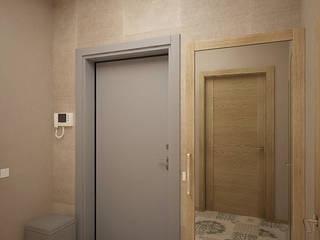 Pasillos, vestíbulos y escaleras de estilo escandinavo de Студия дизайна Марии Губиной Escandinavo