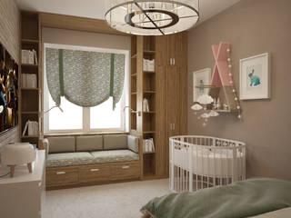 Dormitorios de estilo escandinavo de Студия дизайна Марии Губиной Escandinavo