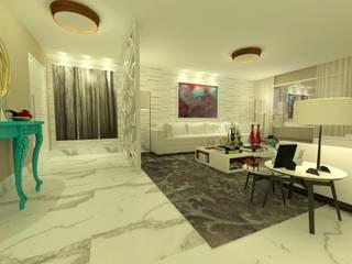 Projeto: Salas de estar modernas por Rangel & Bonicelli Design de Interiores Bioenergético