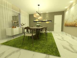 Projeto: Salas de jantar modernas por Rangel & Bonicelli Design de Interiores Bioenergético