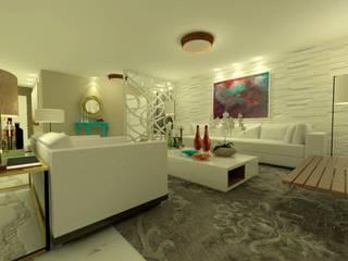 Livings de estilo moderno de Rangel & Bonicelli Design de Interiores Bioenergético Moderno