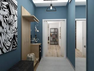 Квартира по скандинавским мотивам.: Коридор и прихожая в . Автор – Светлана ковальчук Дизайн студия 'Академия Интерьера',