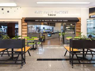 Fast Fruit Factory Santa Fé Gastronomía de estilo moderno de MX Taller de Arquitectura & Diseño Moderno