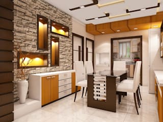 Newtown Project:  Dining room by Creazione Interiors