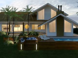 Casa MP: Piscinas  por Liana Robe . Criar Arquitetura
