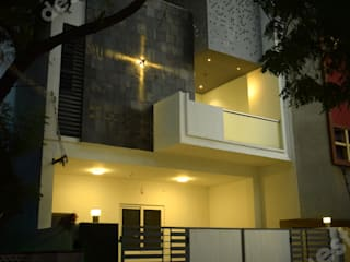 Ramachandran Residence:  Terrace by Design Quest Architects,