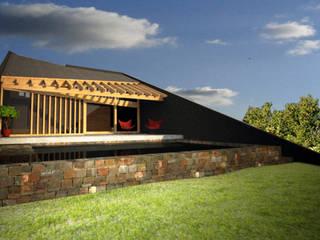 Patios & Decks by AHA! Arquitectura, Modern Bricks