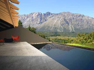 Casa Irigoyen Balcones y terrazas modernos: Ideas, imágenes y decoración de AHA! Arquitectura Moderno