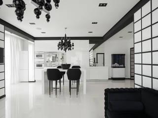 """Квартира в ЖК """"Космос"""" Кухни в эклектичном стиле от Lineout design Эклектичный"""