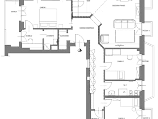 PLANIMETRIA : Soggiorno in stile  di Luigi Brenna Architetto