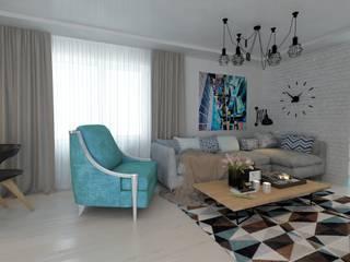 ДизайнМастер Ruang Keluarga Modern