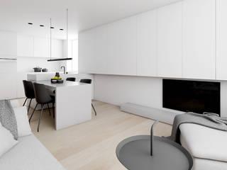 APARTAMENT W SZTOKHOLMIE : styl , w kategorii Salon zaprojektowany przez INUTI