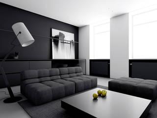 MIESZKANIE W ŁODZI: styl , w kategorii Salon zaprojektowany przez INUTI