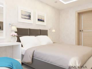 Свежее дыхание Спальня в стиле минимализм от Smolina-design Минимализм