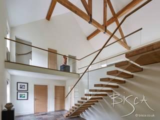 Cantilever Staircase Bisca Staircases Balcones y terrazas de estilo clásico