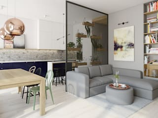 INSIDEarch Scandinavian style living room
