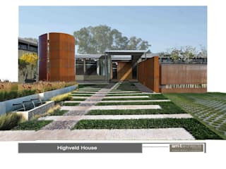 Proposed new residence, Monaghan Farm, Johannesburg, South Africa Modern home by Sm!t Architects Modern