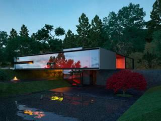 Проект стеклянного дома Дома в стиле минимализм от Way-Project Architecture & Design Минимализм
