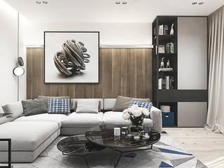 Y.F.architects Salas de estilo minimalista
