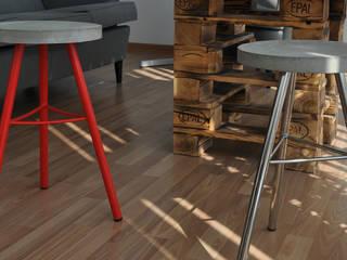Stołek betonowy RESTO: styl , w kategorii  zaprojektowany przez I LIKE BETON