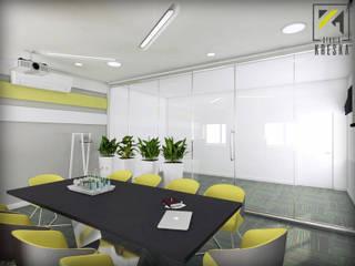 Sala konferencyjna w biurowcu: styl , w kategorii  zaprojektowany przez Kreska. Studio projektowania wnętrz.