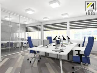 Projekt pomieszczenia biurowego: styl , w kategorii  zaprojektowany przez Kreska. Studio projektowania wnętrz.