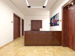 Projekt lady recepcyjnej dla Urzędu Miasta w Głogowie od Kreska. Studio projektowania wnętrz.