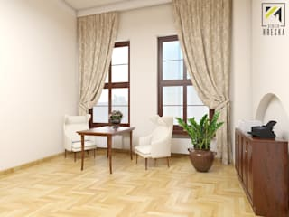 Projekt lady recepcyjnej dla Urzędu Miasta w Głogowie: styl , w kategorii  zaprojektowany przez Kreska. Studio projektowania wnętrz.