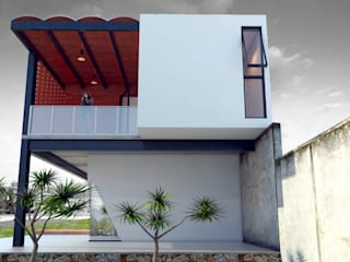 Vintark arquitectura Modern houses Bricks Multicolored