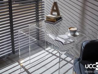 Zestaw stolików 2w1 z przezroczystej plexi UCCOI® od UCCOI® producent mebli i dekoracji z plexi Nowoczesny