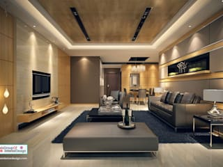 Make Your Home Look Expensive & Beautiful:  Living room by Axis Group Of Interior Design