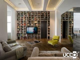 Wielkogabarytowa ława z przezroczystego i jednolitego kawałka plexi UCCOI® od UCCOI® producent mebli i dekoracji z plexi Nowoczesny