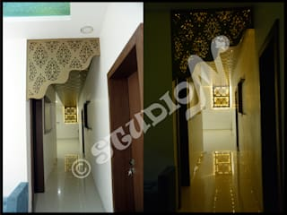 Residential Project in Bhopal Modern corridor, hallway & stairs by StudioN Modern