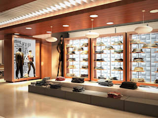 Centros comerciales de estilo moderno de Axis Group Of Interior Design Moderno