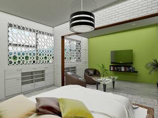 Kamar Tidur Modern Oleh LOFT ESTUDIO arquitectura y diseño Modern