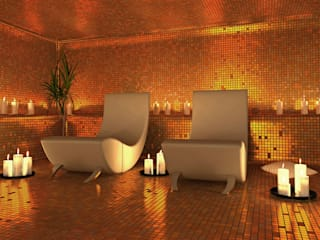 Modern and stylish Spa nassboards Modern spa Tiles Amber/Gold