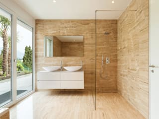 Designer Bathroom nassboards Modern Bathroom Tiles Beige