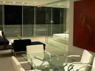 Remodelación de un departamento en Reforma 222, Ciudad de México Comedores modernos de Arquitectos M253 Moderno