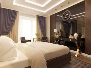 Интерьер спальни Спальня в эклектичном стиле от Smolina-design Эклектичный