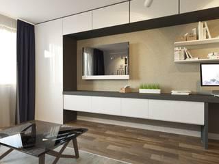 Интерьер квартиры для молодого парня Спальня в стиле лофт от Smolina-design Лофт