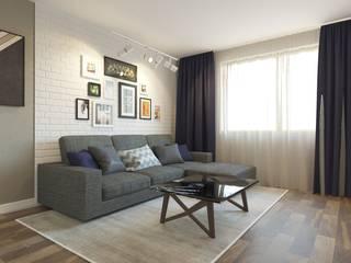 Интерьер квартиры для молодого парня Гостиная в стиле лофт от Smolina-design Лофт