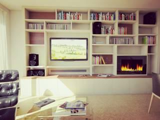 Appartement avec Terrasse à Vincennes: Salon de style  par Agence KP