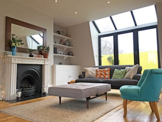 3 Bed Flat Renovation in Islington, London Absolute Project Management Moderne Wohnzimmer