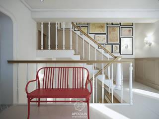 Eklektyzm z nutą Art Deco: styl , w kategorii Korytarz, przedpokój zaprojektowany przez AP DIZAJN - wnętrza & dizajn