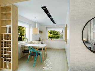 Ze Skandynawią w tle: styl , w kategorii Kuchnia zaprojektowany przez AP DIZAJN - wnętrza & dizajn