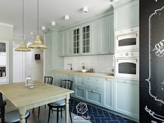 Angielska mieszanka: styl , w kategorii Kuchnia zaprojektowany przez AP DIZAJN - wnętrza & dizajn