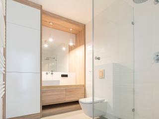 Łazienka naturalna Minimalistyczna łazienka od Kokon Studio Karolina Alicja Prałat Minimalistyczny