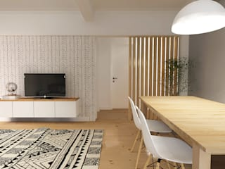 Salas de estar escandinavas por homify Escandinavo