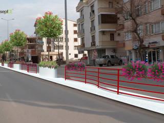 konseptDE Peyzaj Fidancılık Tic. Ltd. Şti. – Yalova Belediyesi Şehit Ömer Faydalı Caddesi Peyzaj Projesi:  tarz Bahçe