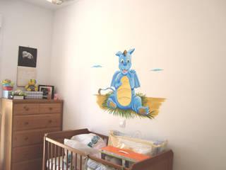 غرفة الاطفال تنفيذ Murales y Cuadros por Paula Mínguez